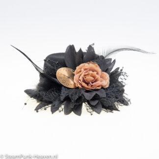 Steampunk mini hoed Jade