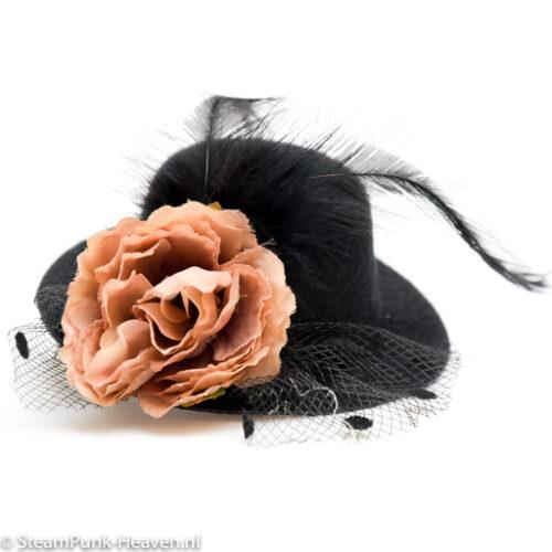 Steampunk mini hoed Olivia