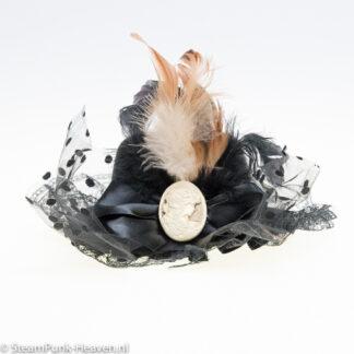Steampunk mini hoed Sanne