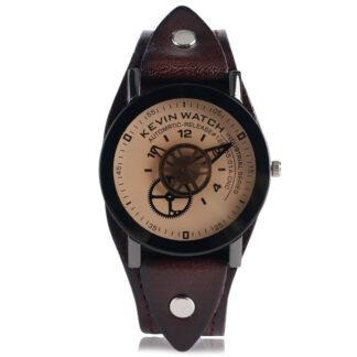 Steampunk horloge 4, metaal en leer