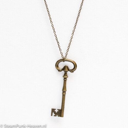 Steampunk ketting 183 met grote sleutel