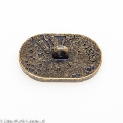 Steampunk knoop 14 met uurwerk imprint