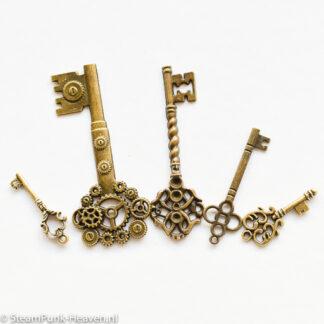 Steampunk sleutels 21, set van 3 stuks