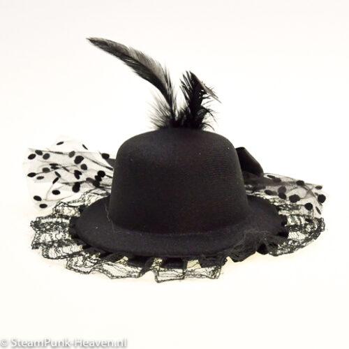 Steampunk mini hoed Femke,