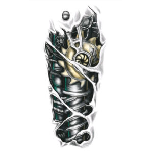 Steampunk tattoo sticker mechanische arm