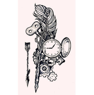 Steampunk tattoo sticker Steampunk stilleven