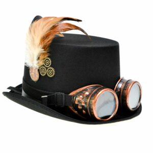 Steampunk hoed Menno