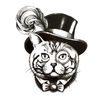 Steampunk tattoo sticker Steampunk Poes