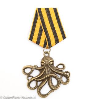 Steampunk medaille Verne - met octopus