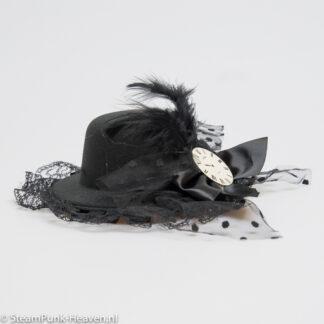 Steampunk mini hoed Arabella