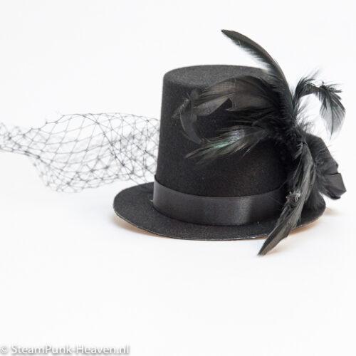 Steampunk mini-hoge-hoed Margot