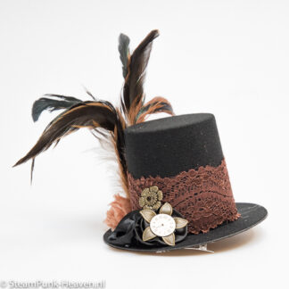 Steampunk mini-hoge-hoed Wilma