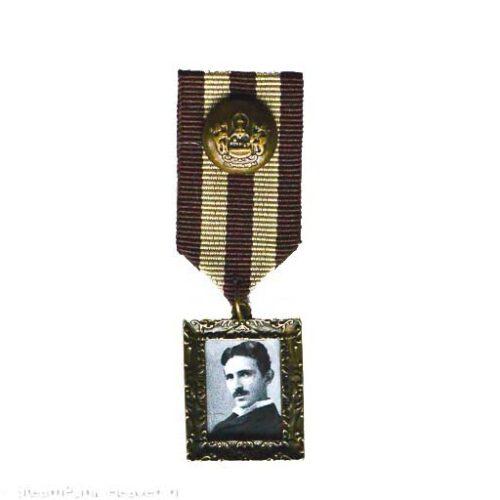 Steampunk medaille Mr Tesla