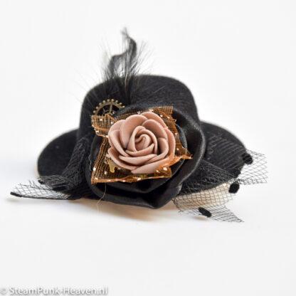 Steampunk mini hoed Daphne
