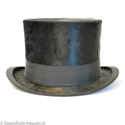 Steampunk hoed: echte, brocante hoge hoed