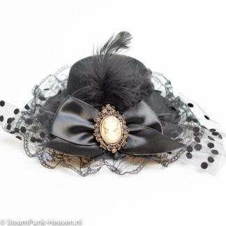 Steampunk mini hoed Lenora