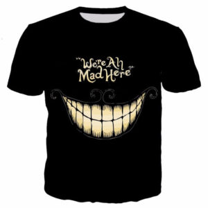 Steampunk t-shirt We're all mad here