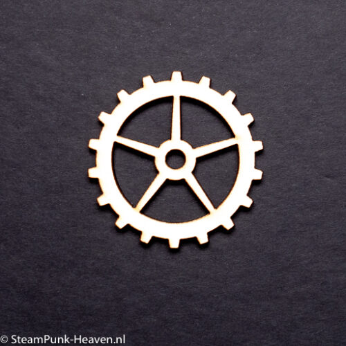Steampunk tandwielen set Farryn, hout, set van 6 verschillende stuks