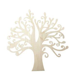Steampunk boom, hout, set van 3 stuks, hout