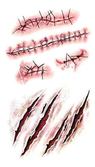 Steampunk tattoo wondjes