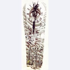 Steampunk tattoo sticker Time Gate