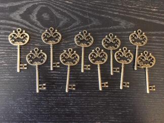 Steampunk sleutel 41, set van 10 stuks