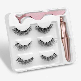 Steampunk magnetische wimpers en eyeliner kit Alison