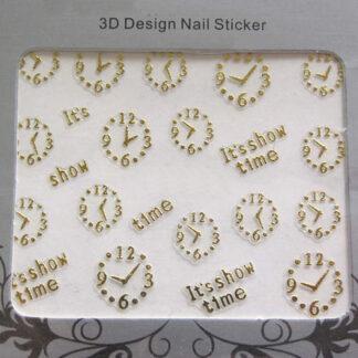 Steampunk 3D nail art sticker Carolin
