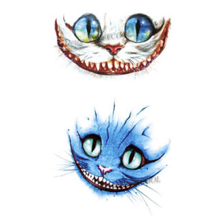 Steampunk tattoo Cheshire Cat
