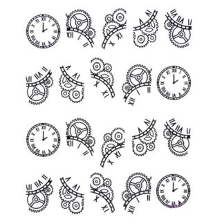 Steampunk nail art stickers Livia