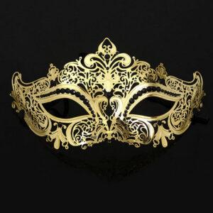 Masque 26, filigraan masker van metaal met imitatie diamantjes