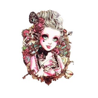 Steampunk tattoo sticker Kristin