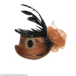 Steampunk mini hoed Alva