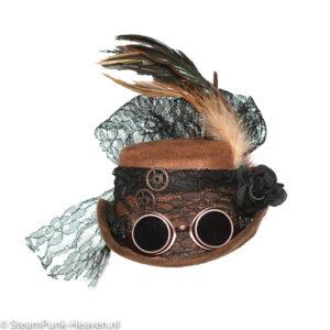 Steampunk mini hoed Cora