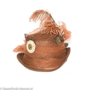 Steampunk mini hoed Frauke