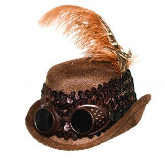 Steampunk mini hoed Kira