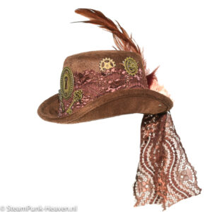 Steampunk mini hoed Nele