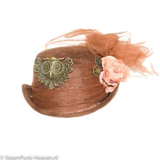Steampunk mini hoed Pernill
