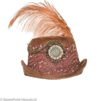 Steampunk mini hoed Svenja