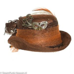 Steampunk mini hoed Alina