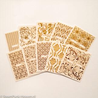 Steampunk 3D nail art sticker Savannah