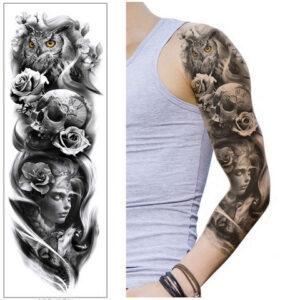 Steampunk tattoo sticker Watchow