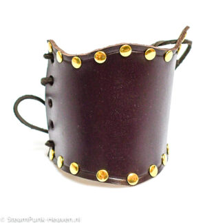Steampunk lederen armband Chicco