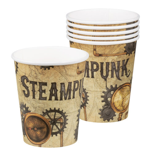Steampunk themaparty bekers