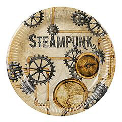 Steampunk thema party bordjes