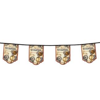 Steampunk thema party vlaggenlijn