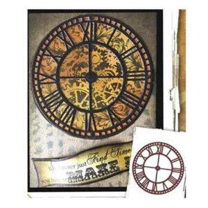Steampunk stencil klok
