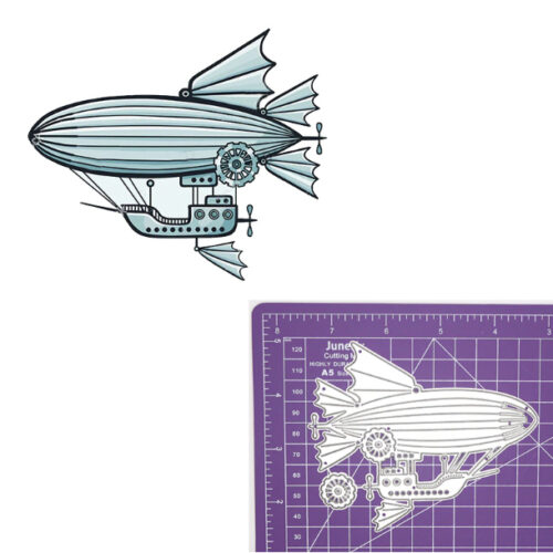 Steampunk stencil luchtschip
