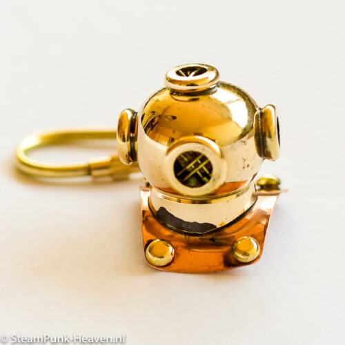 Steampunk mini messing duikhelm