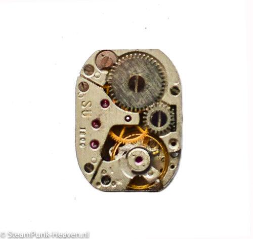 Steampunk rechthoekig dameshorloge uurwerk